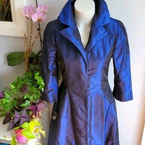 Urban Bride blue tafetta maxi coat dress, XS